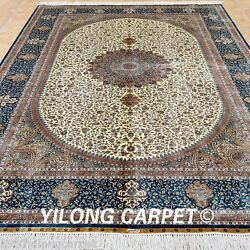 Yilong 6.56'x9.84' Oriental Silk Rugs Hand-knotted Outdoor Carpets Handmade 0777