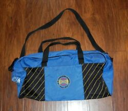 Vintage Spalding Blue Duffle Bag Carry On Overnight Travel Gym Workout Sports $17.00