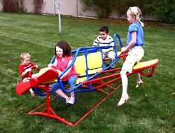 Playground Equipment Toys Kids Airplane Teeter Totter Backyard Play Gym See Saw