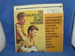 THE GOLDEN HITS OF THE EVERLY BROTHERS RECORD ALBUM LP 33 VINTAGE 1962 WS 1471 $9.99