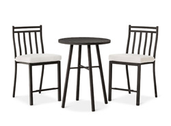 3pc Patio Bistro Set Bar Outdoor Living Furniture Home Garden Balcony Dining NEW