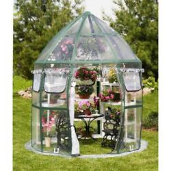 Conservatory 8 ft. x 8 ft. Pop-Up Greenhouse Portable Outdoor Home Plant 9 Vents