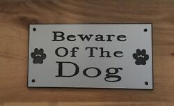Beware Of The Dog Dogs Engraved Sign GBP 4.00