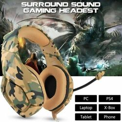 ONIKUMA K1 Camouflage Yellow Gaming Headsets for PS4PS4 Pro Xbox one360 W Mic