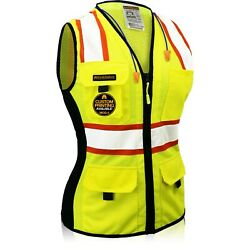 KwikSafety FIRST LADY Class 2 ANSI PPE Hi Vis Surveyor Women's Safety Vest