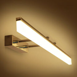 LED Wall Light Retractable Mirror Front Lamp Acrylic SMD 2835 Adjustable Bedroom $84.49