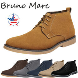 Bruno Marc Men's Suede Leather Lace Up Classic Desert Oxford Shoes Chukka Boots $31.99