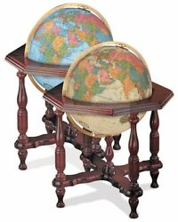Replogle Statesman Illuminated 20 Inch Floor World Globe - Blue Ocean or Antique