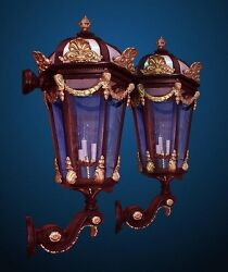 Bronze and Gold entry Sconces