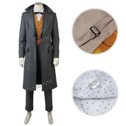 Fantastic BeastsThe Crimes of Grindelwald Cosplay Newt Scamande Costume Outfit