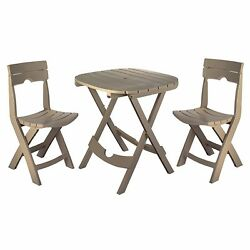 New Outdoor Garden Patio Set Table 2 Chairs Folds quickly Cafe Set Lightweight