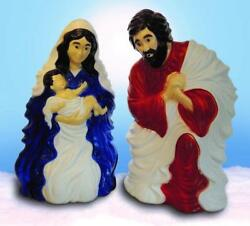 Lighted Outdoor Nativity Set 2 piece tall Scene Holy Family Large Lights NEW
