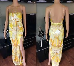 EMILIO PUCCI SEXY OPEN BACK DRESS GOWN IT 42