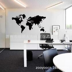 Map Of The World Wall Stickers Kids Bedroom Living Room Decor Home Decals New $24.37