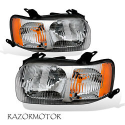 2001 2004 Replacement Headlight Lamp Assembly Set Pair For Ford Escape W Bulb $76.59