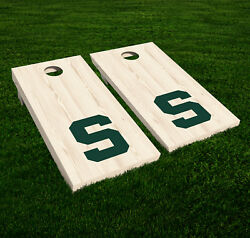 Michigan State Spartan Cornhole Decal Vinyl NCAA College Car Wall Set of 2 GL148