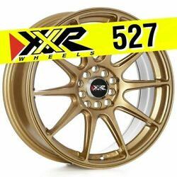 XXR 527 17X7.5 5X100 5X114.3 +40 GOLD WHEELS (SET OF 4)