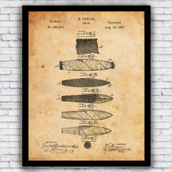 Cigar Rolling Tobacco Vintage Patent Art Print Decor Size and Frame Options $17.00