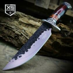Combat SURVIVAL Hunting Tactical BOWIE Ornate Dark Wood Fixed Blade Knife $17.99