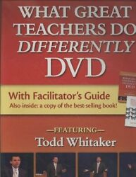 What Great Teachers Do Differently Hardcover by Whitaker Todd ISBN 1596670...