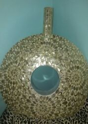 Iridescent Capiz Mother of Pearl Round Vase X-Large Exotic Home decor