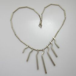 HANDMADE MATTE FINISH STERLING SILVER NECKLACE