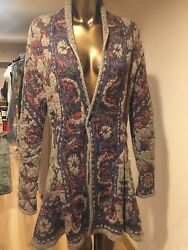 WOMENS CARDIGAN BY SHE'S  SO  MOHAIR  MULTICOLOR    ITALY  Value 550$