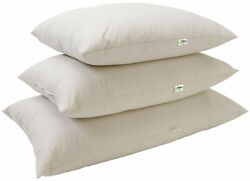 Kapok or Latex Bed Pillows 100% Organic All Sizes Made in USA Bean Products
