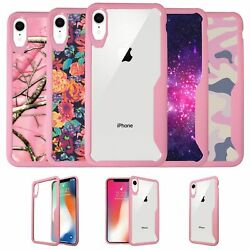 For Apple iPhone XR 2018 Clear TPU Case with Pink Silicone Edges $9.15