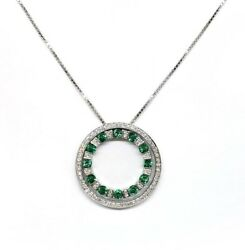 Damiani Belle Epoque Round Pendant With Diamonds And 18K White Gold New!