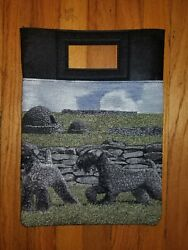 Kerry Blue Terrier Dog tapestry purse book computer bag ltd ed