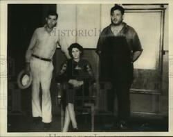 1936 Press Photo Three suspects in the murder of John Richardson held by police