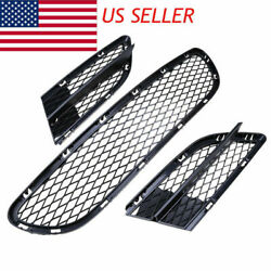 3PCS Front Lower Bumper Grilles Grill Mesh for 08 12 BMW E90 LCI 325i 328i 335i $47.89