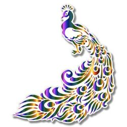 Peacock Bright Car Laptop Phone Vinyl Sticker  - SELECT SIZE