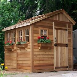 She Shed Woman Cave Outdoor Wood Garden Cedar - No CUTTING NEEDED 8 W x 8 Ft D