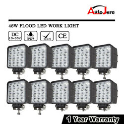 10x 48W LED Work Light Flood Headlight Driving SUV Offroad pickup Boat 12V 24v