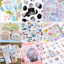46PCS Retro Stamps Stickers Kawaii Stationery DIY Scrapbooking Diary Stickers HS $1.65
