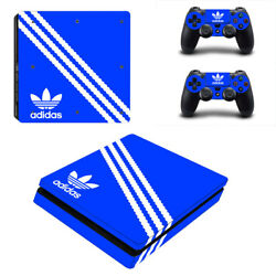 PS4 SLIM - Adidas - Vinyl Protector Skin Sticker + 2 Controller Skins [0130]