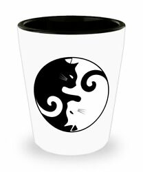 Ying Yang Cat Shot Glass Novelty Birthday Christmas Gag Gifts Idea $9.95