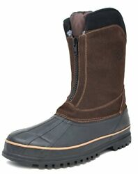 DREAM PAIRS Mens Insulated Waterproof Zip Outdoor Hiking Winter Warm Snow Boots $22.99