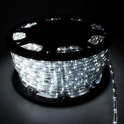 150#x27; LED Rope Light 2 Wire Outdoor Home Party Lighting Bedroom 110V Cool White $75.99