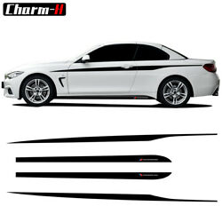 for BMW 4 Series F32 F33 M Performance Side Skirt Stripes Decals Vinyl Stickers