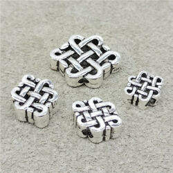 2pcs of 925 Sterling Silver Bow Knot Fortune Beads $7.49