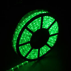 50#x27; 110V LED Rope Light 2 Wire Outdoor Xmas Decorative Lighting Waterproof Green