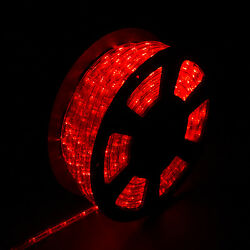 100FT 110V LED Rope Light Home Yard Party Decorative Lighting Red Waterproof