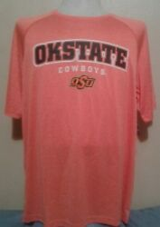 OKLAHOMA STATE COWBOYS CHAMPION quot;IMPACTquot; ORANGE HEATHER TEE LARGE NWT DRI FIT $9.50