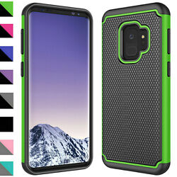 For Samsung Galaxy S9  Plus Case Shockproof Hybrid Phone Cover+Screen Protector