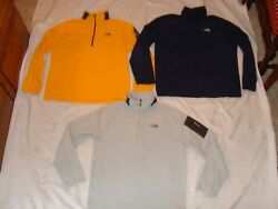 LOT OF 3 THE NORTH FACE RDT 12 ZIP Thermal Fleece PULLOVERS JACKETS TKA Mens LA