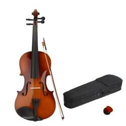 Natural Basswood Full Size 4 4 Acoustic Violin Set with Case Bow Rosin $31.97