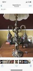 Antique Brass Lamp $60.00